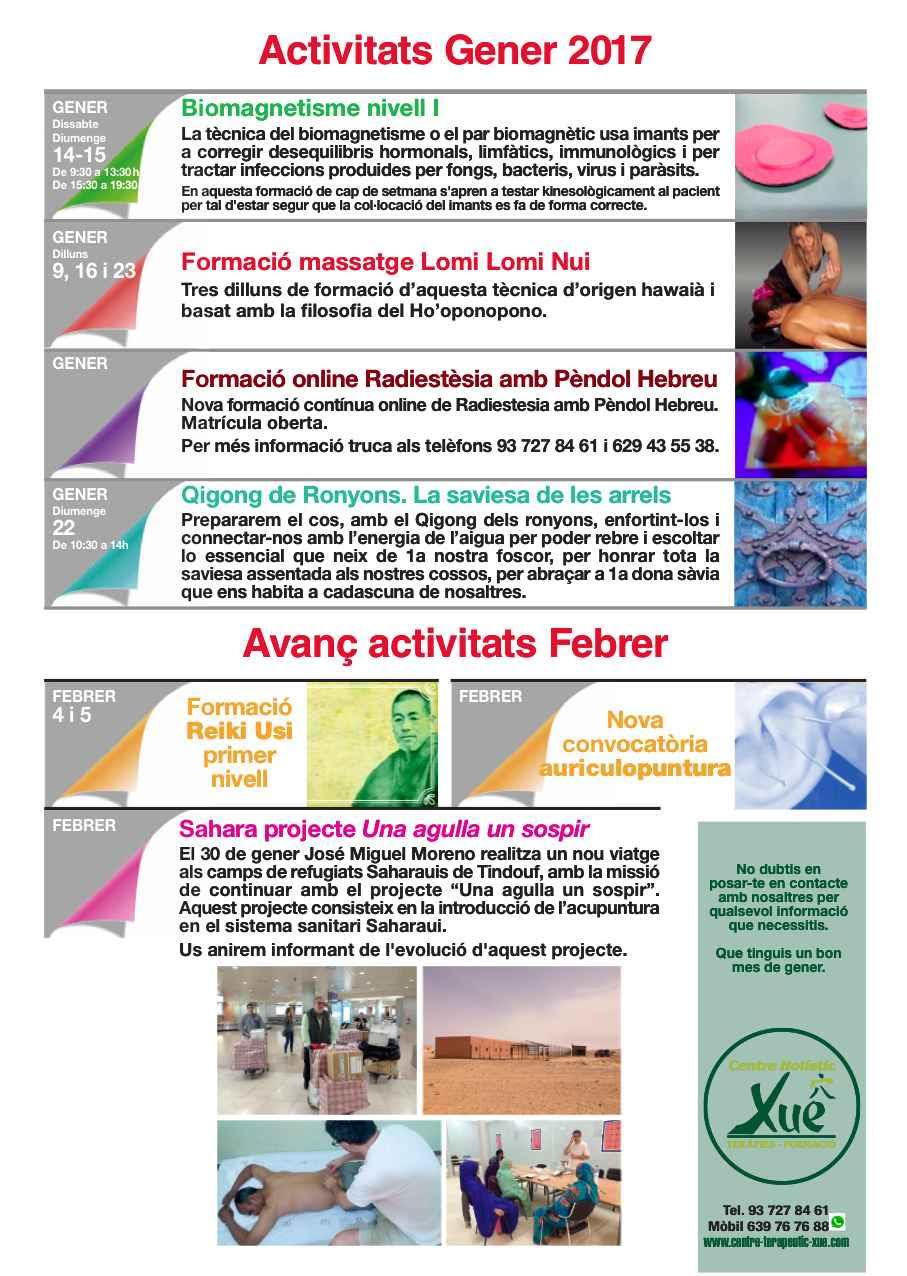 Actividades Centre de Terapias Naturales Xue Sabadell