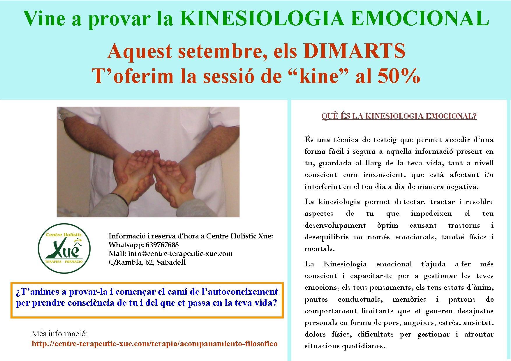 kinesología emocional promoción setembre 2017