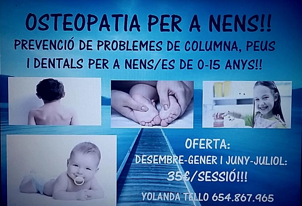 promoación osteopatía infantil