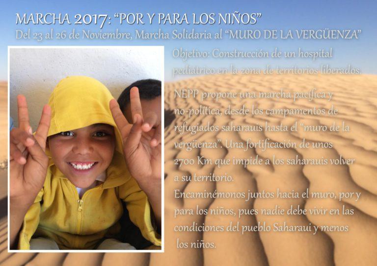 Marcha promovida por la fundación privada NEPP para construir un hospital pediátrico en los campos de refugiados saharauis