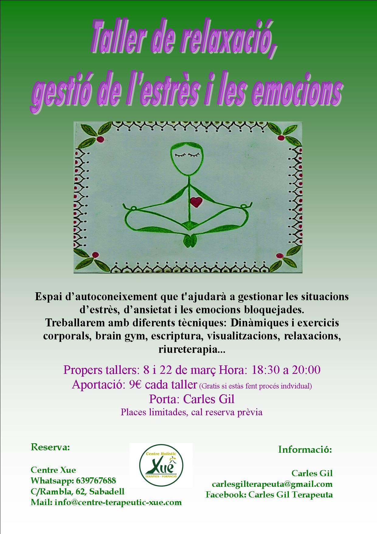 taller de relajación y gestión emociones