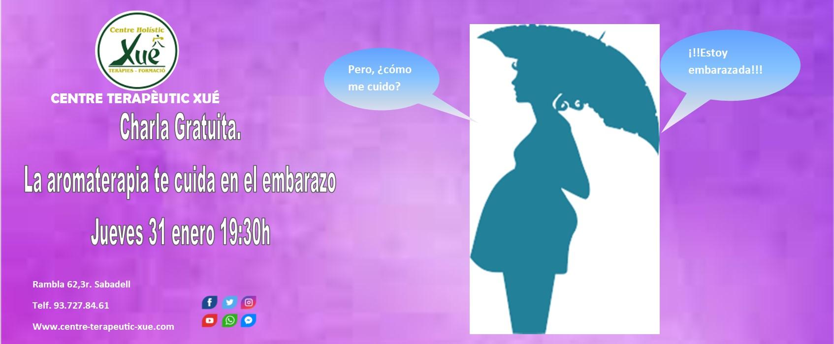 charla gratuita aromaterapia embarazadas