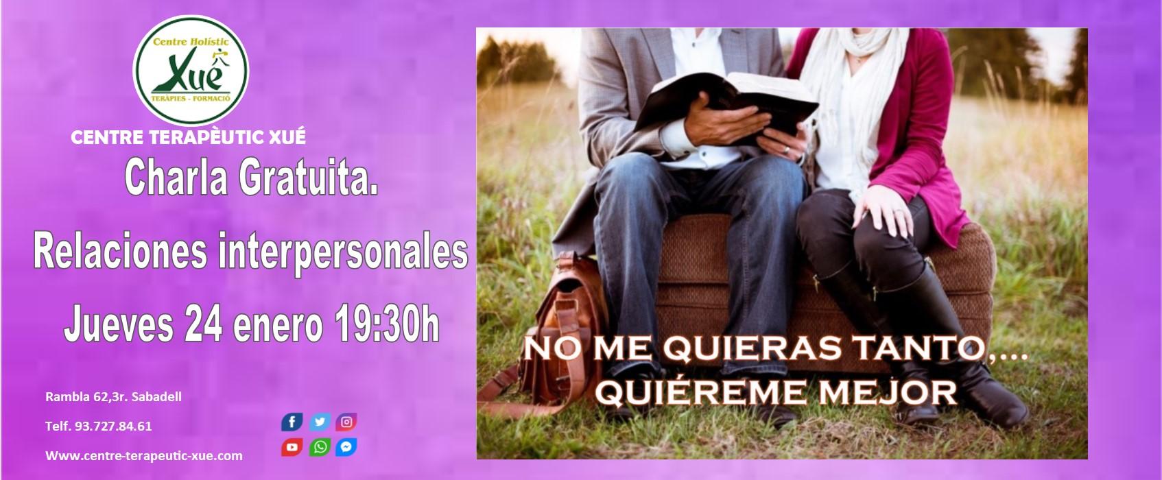 charla gratuita relaciones interpersonales