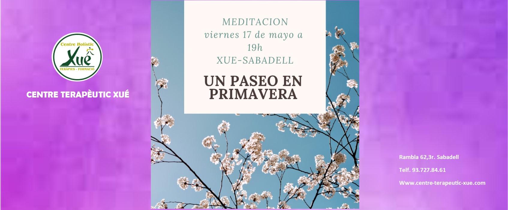 meditación guiada primavera